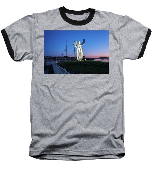First Light At The Waterfront Baseball T-Shirt