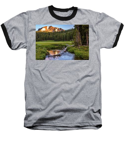 First Light On Lassen From Upper Meadow Baseball T-Shirt