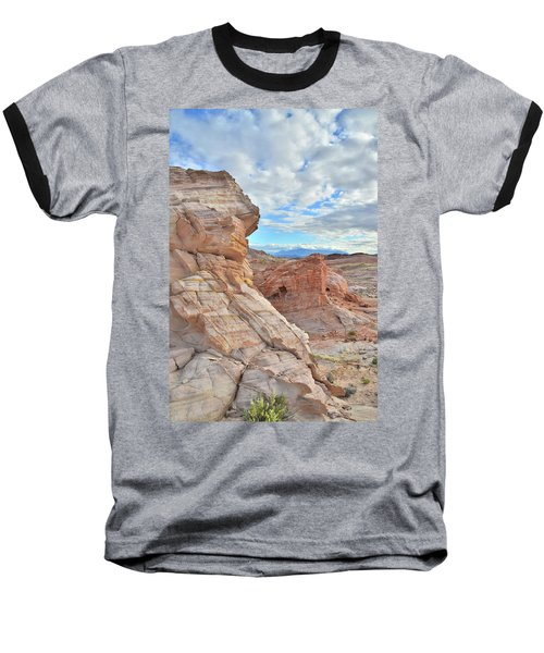 First Light On Valley Of Fire Baseball T-Shirt by Ray Mathis