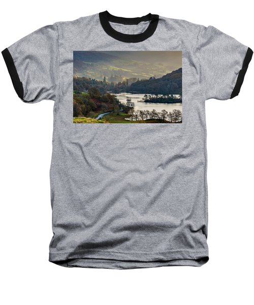 First Light Over Rydal Water In The Lake District Baseball T-Shirt
