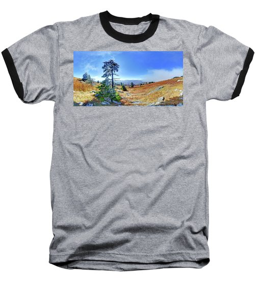 Baseball T-Shirt featuring the photograph First Light Snow by George Randy Bass