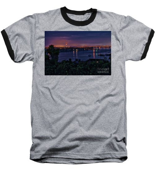 First Moonset Of 2018 Baseball T-Shirt