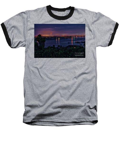 First Moonset Of 2018 Baseball T-Shirt