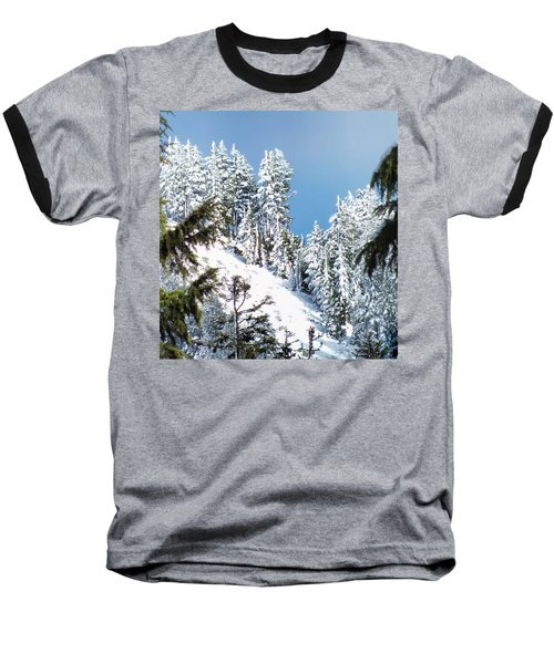 Baseball T-Shirt featuring the photograph First November Snowfall by Wendy McKennon