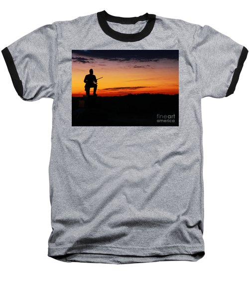 First Pennsylvania Cavalry Sunrise Gettysburg Baseball T-Shirt