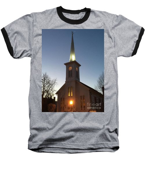 First Presbyterian Churc Babylon N.y After Sunset Baseball T-Shirt