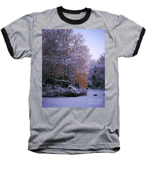 First Snow After Autumn Baseball T-Shirt