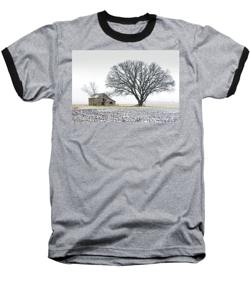 Winter's Approach Baseball T-Shirt by Christopher McKenzie