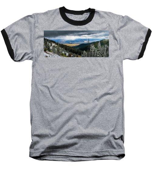 First Snow, Jackson From Teton Pass Baseball T-Shirt