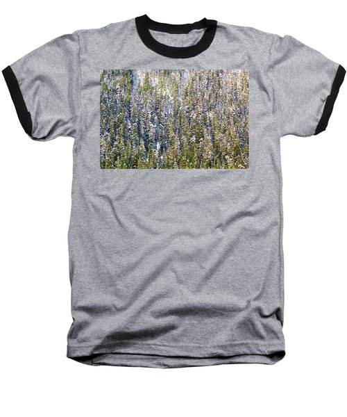 First Snow On Trees Baseball T-Shirt