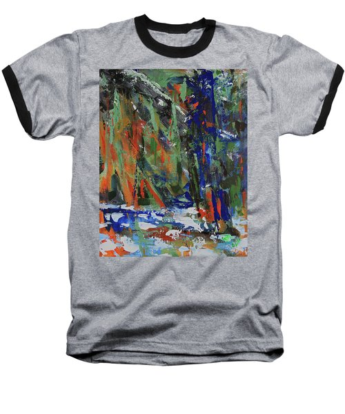 Baseball T-Shirt featuring the painting First Snow Over Tenaya Creek by Walter Fahmy