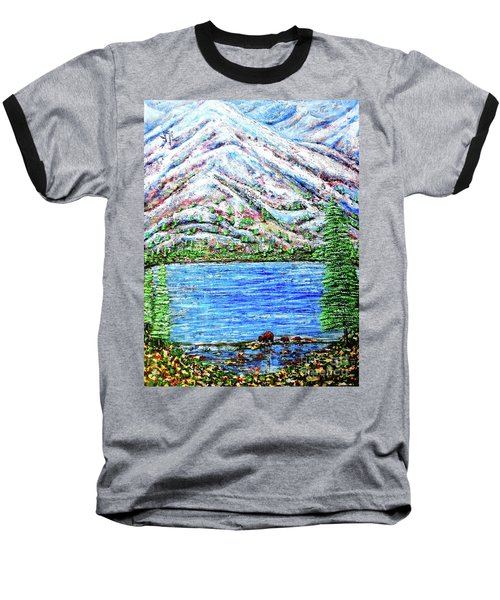 First Snow Baseball T-Shirt by Viktor Lazarev