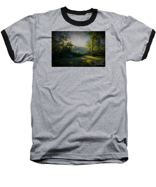 Baseball T-Shirt featuring the painting First Sun by Mim White