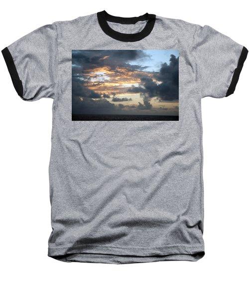 Baseball T-Shirt featuring the photograph First Sunrise  by Allen Carroll