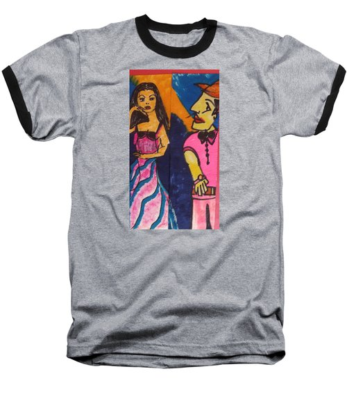 Baseball T-Shirt featuring the drawing First Tango by Don Koester