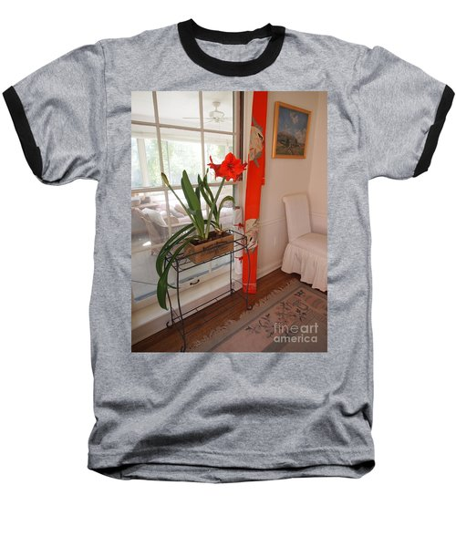 Baseball T-Shirt featuring the photograph First There Was Red by Nancy Kane Chapman