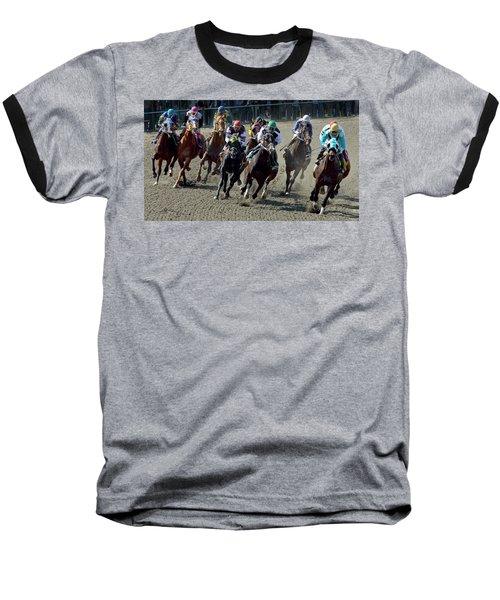 First Turn. Baseball T-Shirt