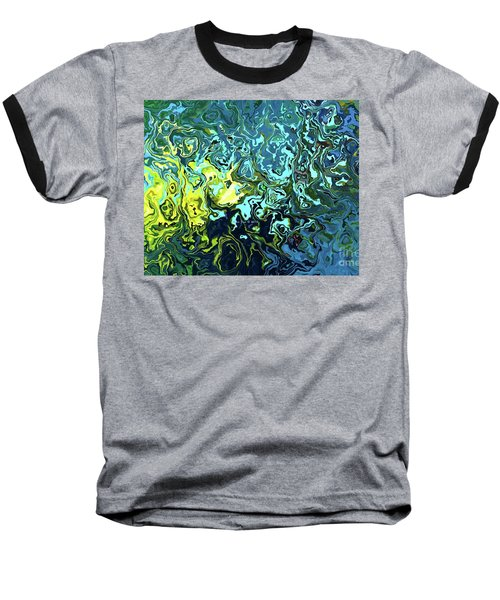 Baseball T-Shirt featuring the digital art Fish Abstract Art by Annie Zeno