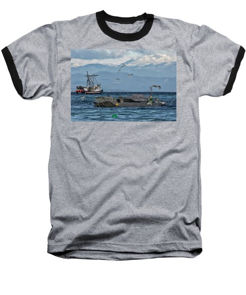 Baseball T-Shirt featuring the photograph Fish Are Flying by Randy Hall
