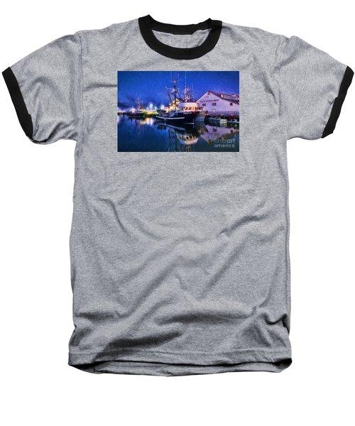 Fish Boats Baseball T-Shirt