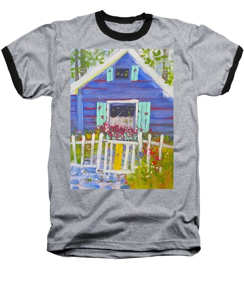 Fish Camp Cottage Baseball T-Shirt
