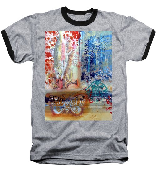 Baseball T-Shirt featuring the mixed media Fish Collage #1 by Rose Legge