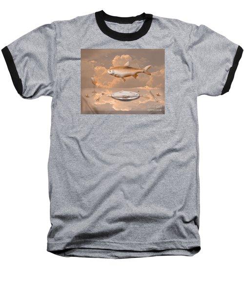 Fish Diner Baseball T-Shirt by Alexa Szlavics