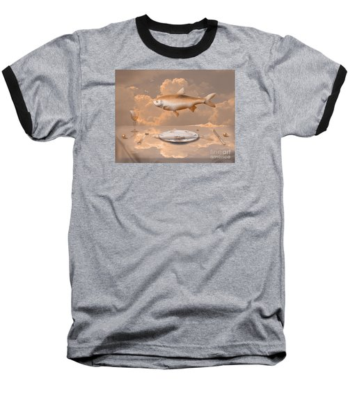 Fish Diner Baseball T-Shirt
