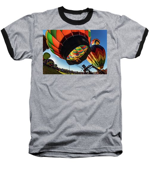 Fish Eye View Of The Balloon Races Baseball T-Shirt