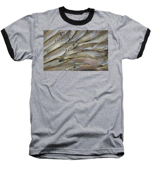 Fish Eyes Baseball T-Shirt by Joe Bonita