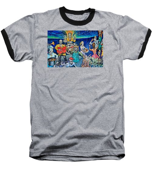 Fish Fright Baseball T-Shirt
