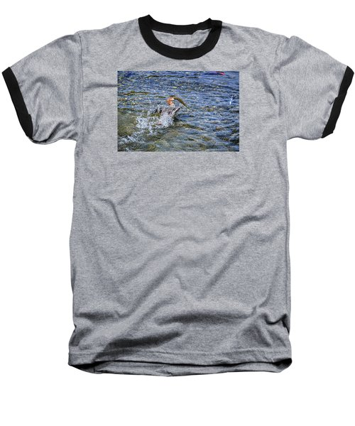 Baseball T-Shirt featuring the photograph Fish Gulp by David Lawson