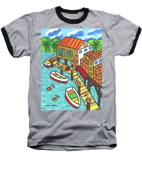 Fish House-cedar Key Baseball T-Shirt