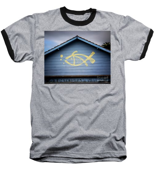 Baseball T-Shirt featuring the photograph Fish House by Perry Webster