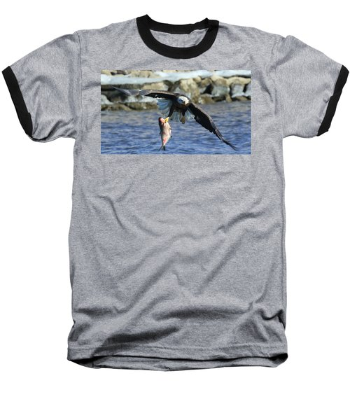 Fish In Hand Baseball T-Shirt