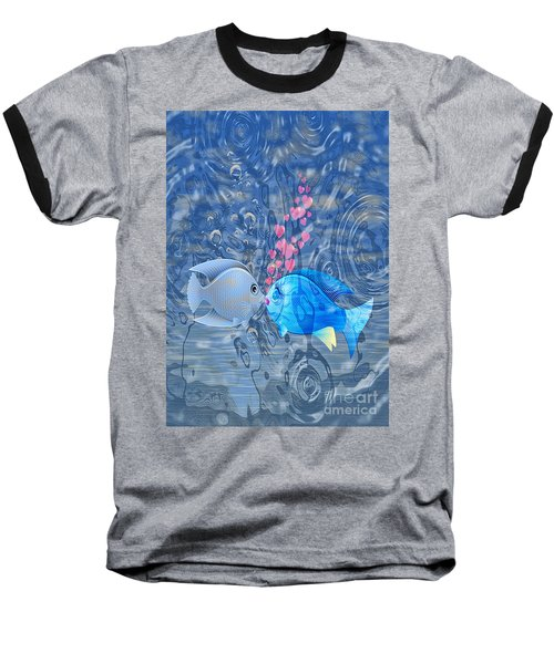Fish In Love Baseball T-Shirt