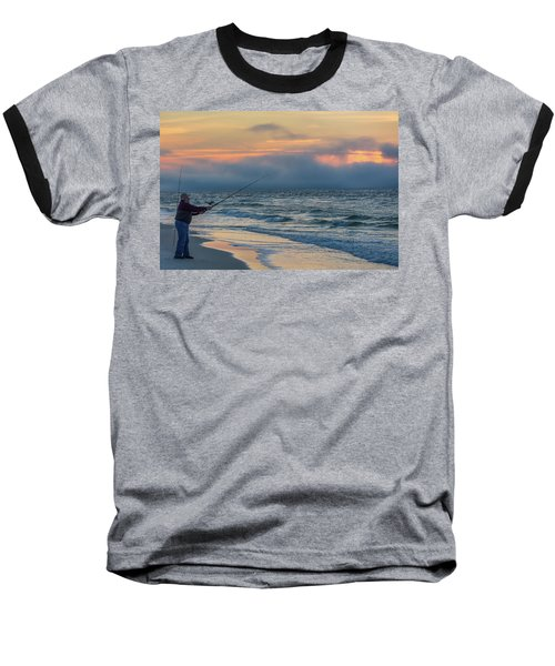 Baseball T-Shirt featuring the photograph Fish On In Alabama  by John McGraw