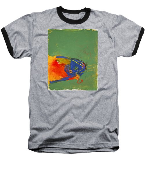 Fish Pondering The Anomaly Of Mans Anamnesis Baseball T-Shirt by Cliff Spohn