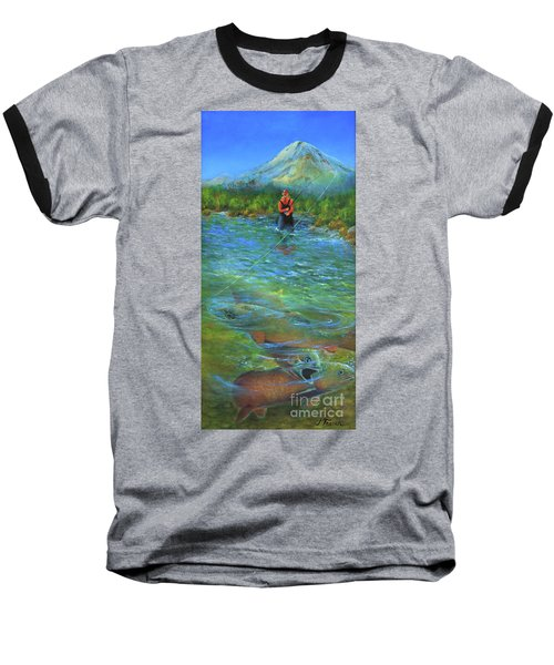 Fish Story Baseball T-Shirt by Jeanette French