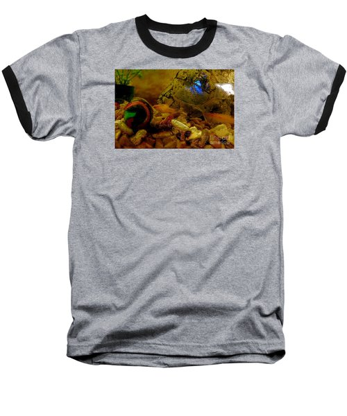 Baseball T-Shirt featuring the photograph Fish Tank Abstract by Cassandra Buckley