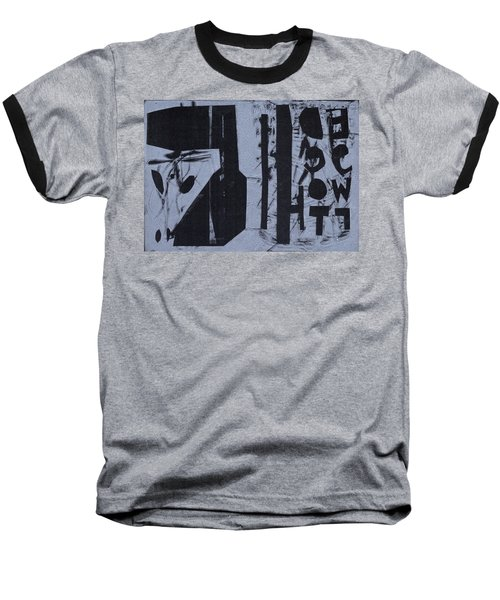Fisher Covers Reverse White On Black Baseball T-Shirt