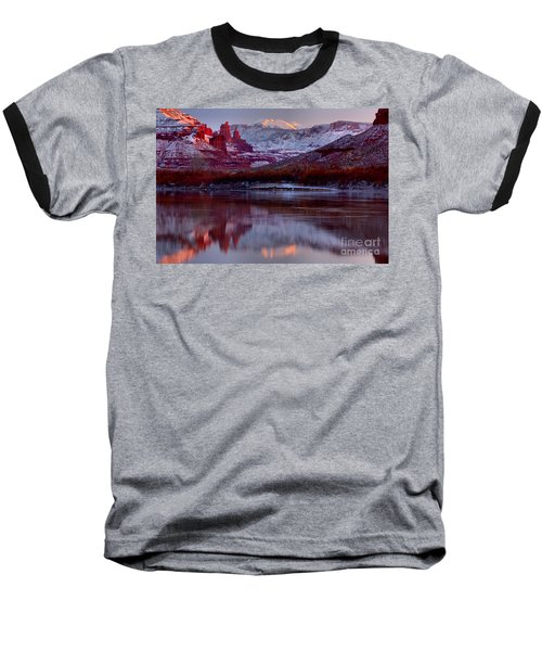 Baseball T-Shirt featuring the photograph Fisher Towers Landscape Glow by Adam Jewell