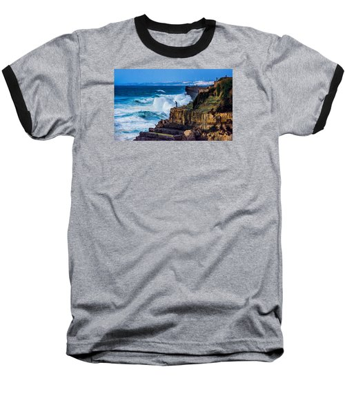 Baseball T-Shirt featuring the photograph Fisherman And The Sea by Marion McCristall