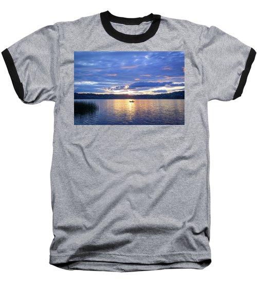 Fisherman Heading Home Baseball T-Shirt by Keith Boone