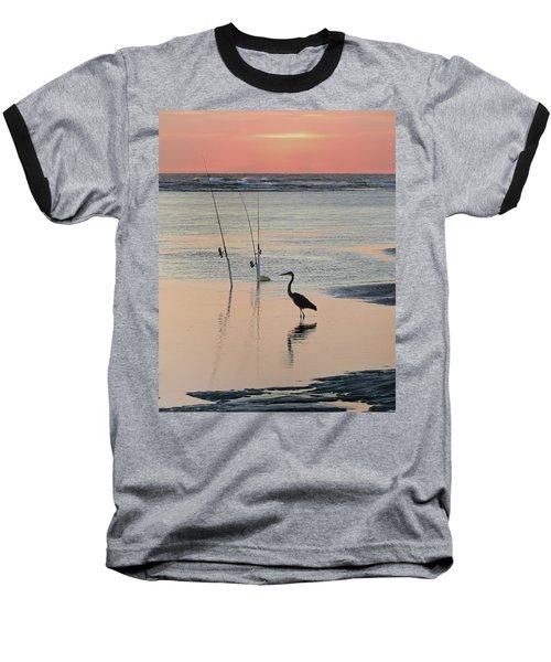 Fisherman Heron Baseball T-Shirt