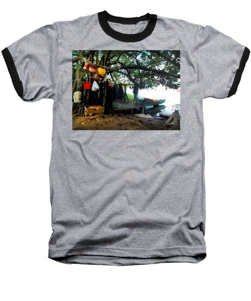 Fishing In Moorea Baseball T-Shirt