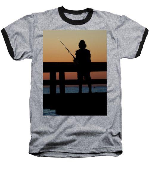 Fisherman Mount Sinai New York Baseball T-Shirt by Bob Savage
