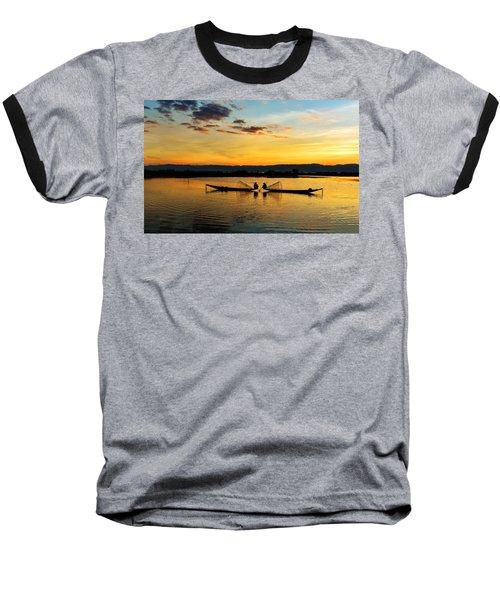 Fisherman On Their Boat Baseball T-Shirt