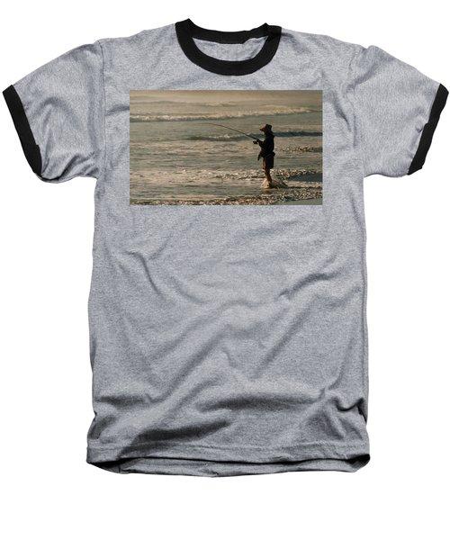 Baseball T-Shirt featuring the photograph Fisherman by Steve Karol