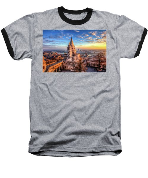 Baseball T-Shirt featuring the photograph Fisherman's Bastion In Budapest by Shawn Everhart